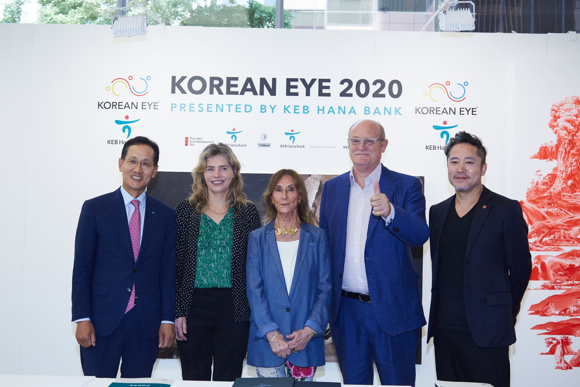 Mr Ji Sung Kyu, Ms Philly Adams, Mrs Serenella Ciclitira, Mr David Ciclitira and Mr Seahyun Lee at the launch of Korean Eye 2020